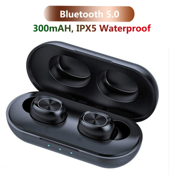 TWS Bluetooth Earphones Streo Wireless Earbuds with Wireless Charging Case 3D Stereo Sound IPX5 Waterproof Whit Charging Box 1