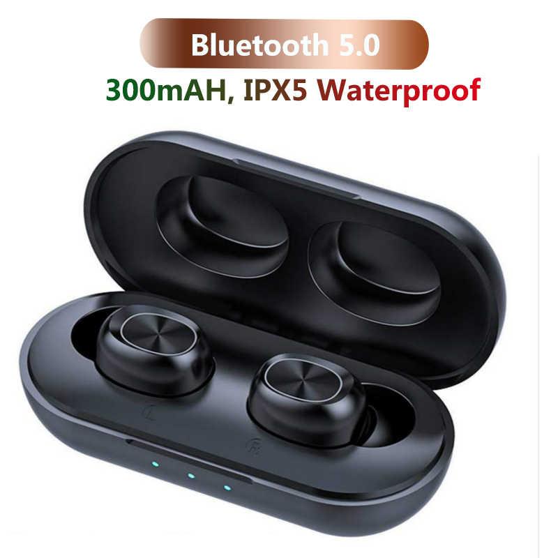 TWS Bluetooth Oortelefoon Streo Draadloze Oordopjes met Draadloos Opladen Case 3D Stereo Geluid IPX5 Waterdichte Whit Opladen Doos