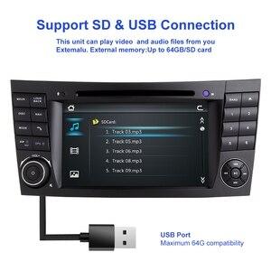 Image 4 - ZLTOOPAI سيارة مشغل وسائط متعددة السيارات مشغل ديفيدي لمرسيدس بنز E Class W211 E300 CLK W209 CLS W219 راديو تلقائي لتحديد المواقع ستيريو 2 الدين
