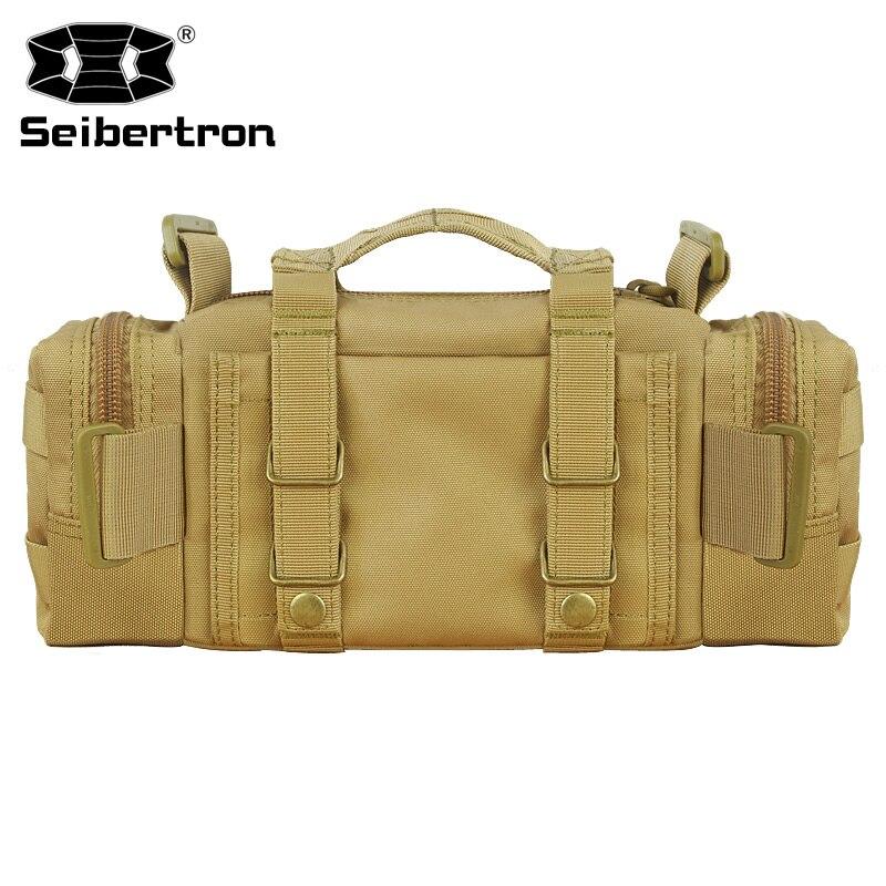 Купить с кэшбэком Seibertron Tactical Utility Response Shoulder Hand Bag Multipurpo se Waist Bag waterproof bag color brown and black