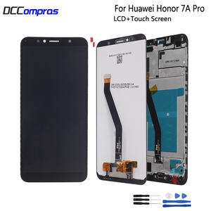 Image 1 - Original For Huawei Honor 7A pro LCD Display Touch Screen With Frame AUM L29 Aum L41Digitizer Phone Parts For Honor 7A Pro LCD