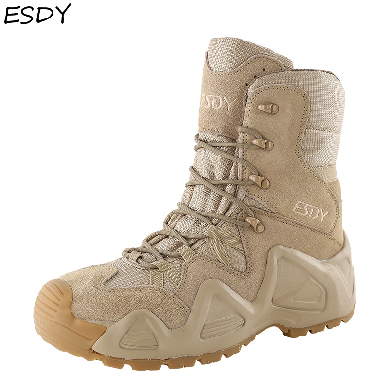 Esdy Military Tactical Men Boots Special Force Leather Desert Combat Ankle  Boot Army Work Shoes Men Shoes Military Boots| | - AliExpress