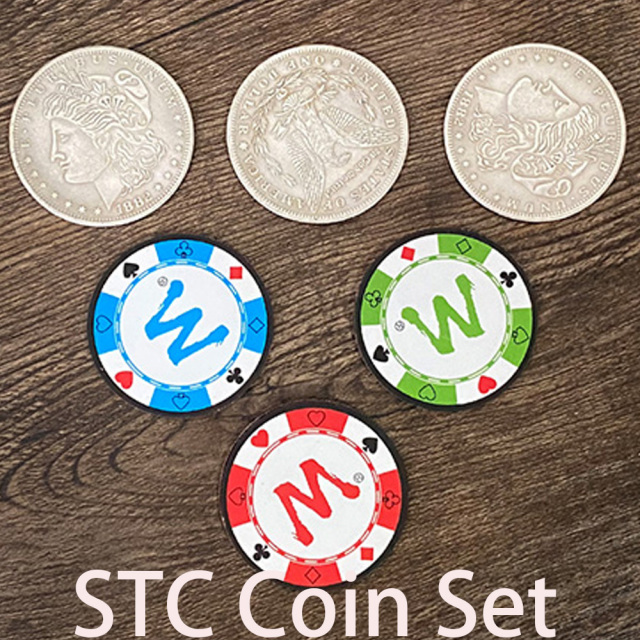 STC Coin Set Magic Tricks Coin Change Penetrate Magia Close Up Illusions Gimmick Props Multiplying Silver Coins to Chip Magica|Magic Tricks| - AliExpress