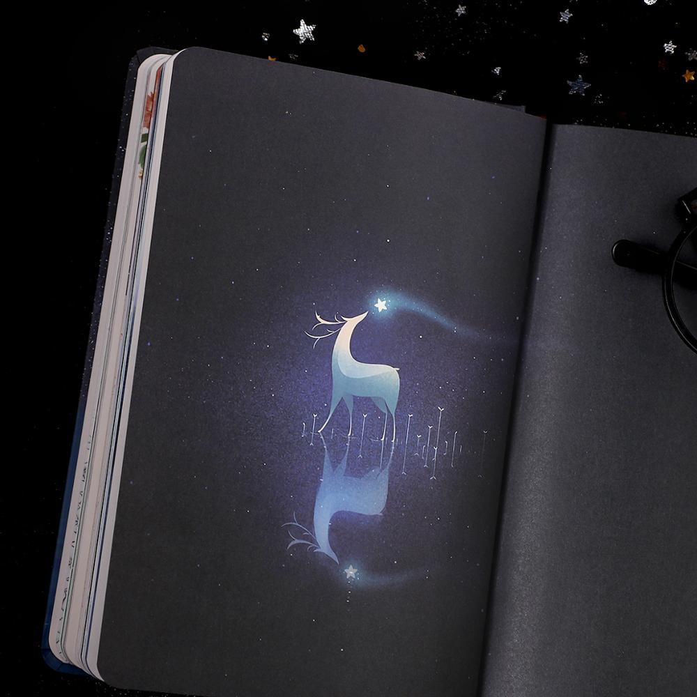 Image 3 - creative Luminous notebook Notepad Book For Kids Korean Stationery creative Kawaii Journal Diary School office suppliesNotebooks   -