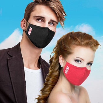 PM2.5 Cotton Anti Dust Mask Mouth Mask Activated Carbon Filter Fabric Face Windproof Bacteria Proof Flu Mouth-muffle Mask