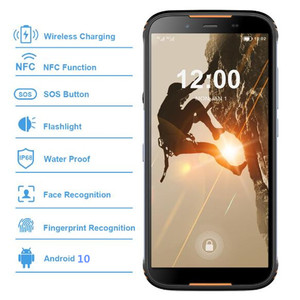 """Image 3 - Original homtom ht80 ip68 à prova dlágua smartphone 4g lte android 10 5.5 """"18:9 hd + mt6737 nfc carga sem fio sos telefone móvel"""