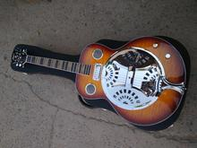 цена на free shipping dobro Hofner Vintage Sunburst Hollow body Guitar Metal top Mini Humbucker Resonator Steel Electric guitar