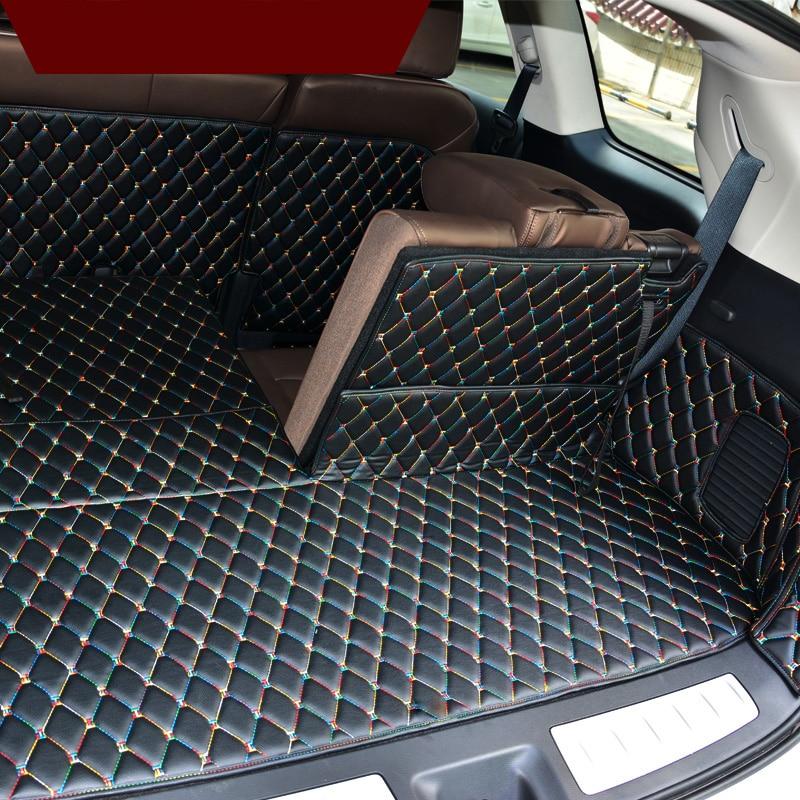 Lsrtw2017 Leather Car Trunk Mat Cargo Liner for Infiniti Qx60 2012 2013 2014 2015 2016 2017 2018 Jx35 Rug Carpet Accessories