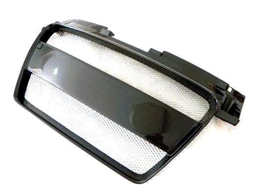 Auto-styling Für Audi TT MK2 (Typ 8J) carbon Fiber Front Grill Glossy Finish Stoßstange Grille Fibre Grills Mesh Teil Zubehör