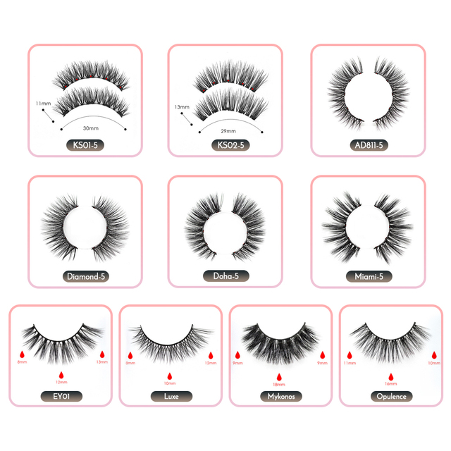 2019 New Arrival Magnetic False Eyelashes & Eyeliner 5 Magnets Natural Soft Fake Eyelashes Extension with 2 Pairs Eyelashes 5