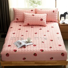 New Bedding Single Piece Non-slip Thick Quilted Mattress Cover Bed Fitted Sheet Simmons Thin Mattress Dust Protection Bedspread
