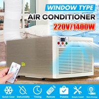 Mini Portable Air Conditioner Cold Cooling 1400W 220V/AC Timer Remote Control LED Display Control Panel Air Conditioner