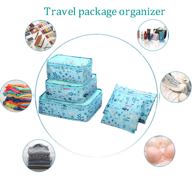 4pcs Travel Suitcase Closet Divider Container Storage Bag Set for Clothes Tidy Organizer Packing Cubes bagging Sets coin purse