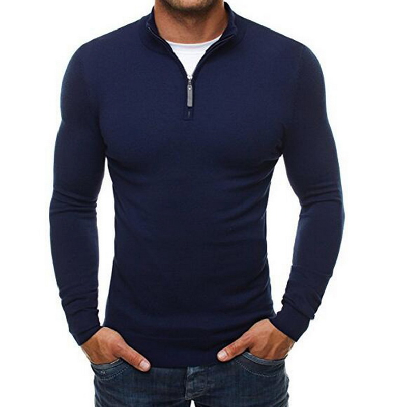 DIHOPE 2020 Autumn Men's Sweater Pullovers Simple Style Knitted V Neck Sweater Jumpers Thin Male Knitwear Blue Navy Black M-3XL