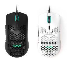 AJ390 ratón ligero con cable, Mouse para videojuegos con huecos, 6 DPI, ajustable, 7 teclas para sistemas Windows 2000/XP/Vista/7/8/10
