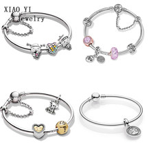 XIAOYI 100% 925 sterling silver Christmas bracelet gift set, childhood memory style exquisite for women's holidays(China)