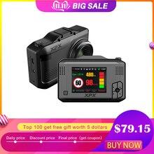 Cámara de coche XPX cámara de salpicadero del coche dvr 3 en 1 Radar GPS DVR SFHD 1296P Ambarella A12 Dashcam detector de Radar G sensor
