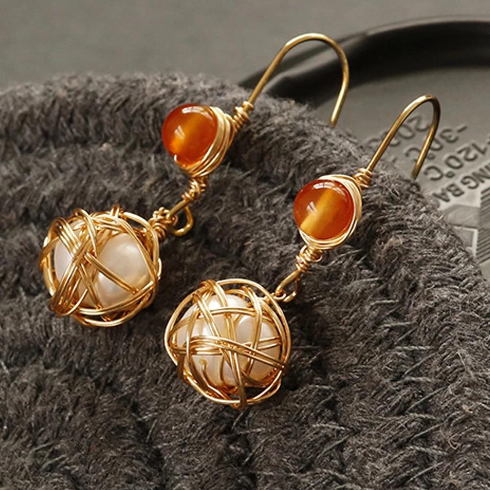 Copper Handcrafted  earringscopper earrings
