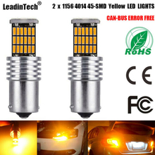 цена на 2pcs 1157 4014 45 SMD LED BAY15D Car Bulb Turn Signal Backup Light Parking Tail Reverse Lights For Universal Car