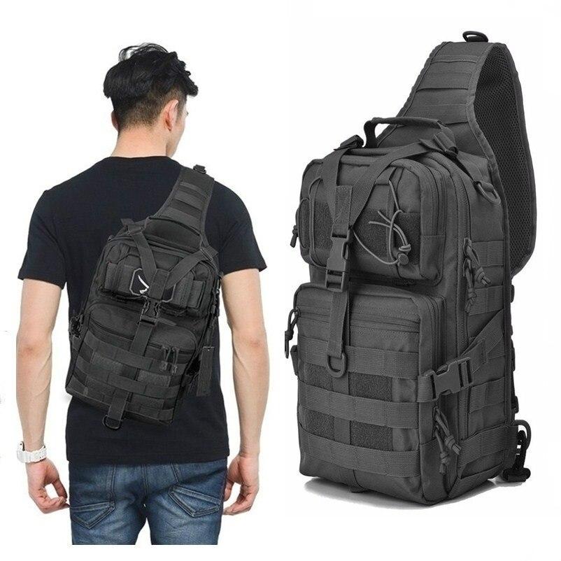 Military Tactical Assault Pack Sling Backpack Waterproof EDC Rucksack Bag For Outdoor Hiking Camping Hunting Trekking Travelling