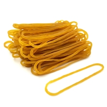 60MM yellow color Rubber Bands Office Supplies Ring Band Loop Sturdy Stretchable Elastic Holder Band Bundling money