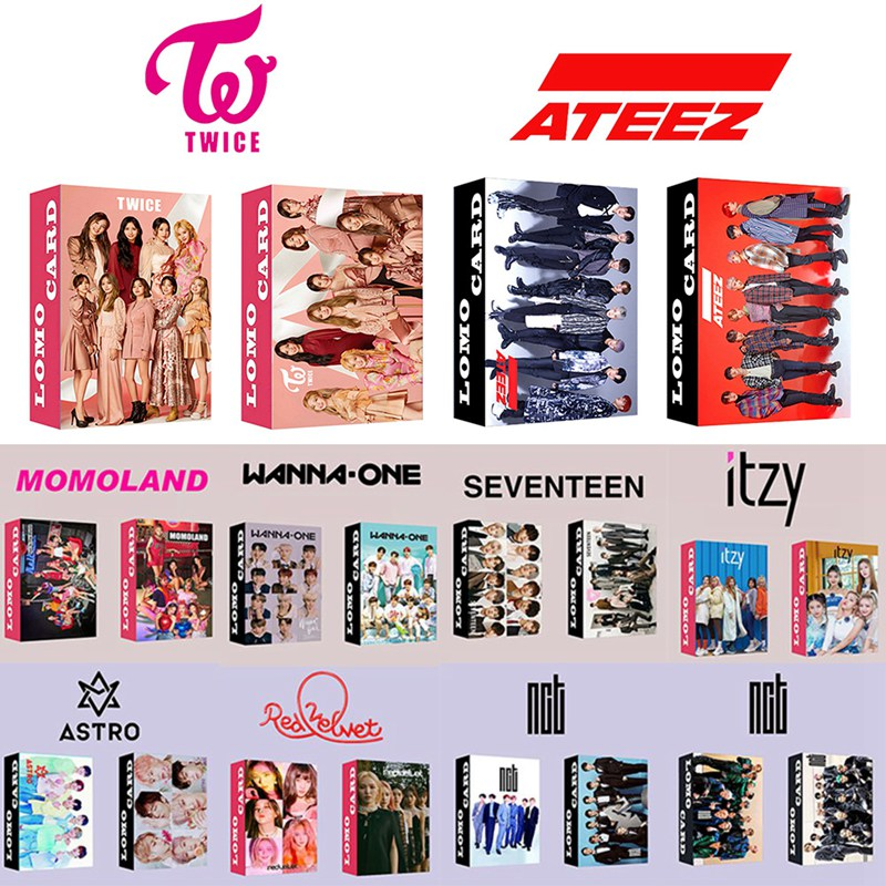 30PCS/Set KPOP ATEEZ RED VELVET EXO NCT ITZY Photocard Lomo Cards Paper Small Cards Album Photo Cards