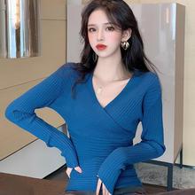 Корейский женский свитер с длинным рукавом Женский вязаный v