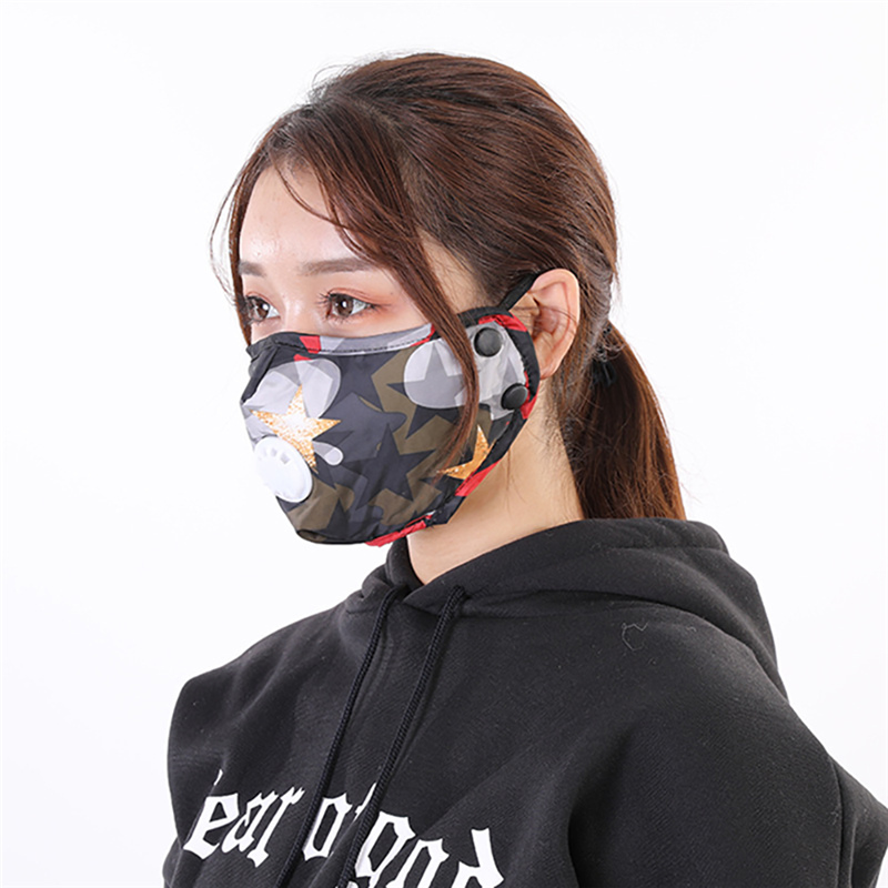PM2.5 Protective Anti-dust Mask 5 Layer Filter Activated Carbon Reusable Respirator Mask Protect Health Folding Mask Washable