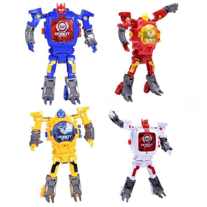 Creative Electronic Deformation Robot Children Watch Educational Toys Xmas Gift Skillful Design And Exquisite Appearance