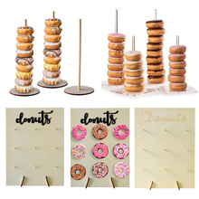 Donut Doughnut Wooden Stands Wall Party Supplies For Wedding Decoration Baby Shower Kids Birthday Decor