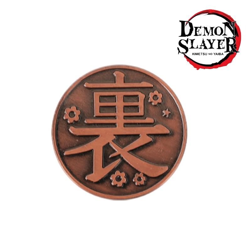 Figuras de acción de Demon Slayer, monedas de Metal de aleación de Kimetsu no Yaiba Tsuyuri Kanawo Kochou Shinobu, accesorios de colección, 1 unidad