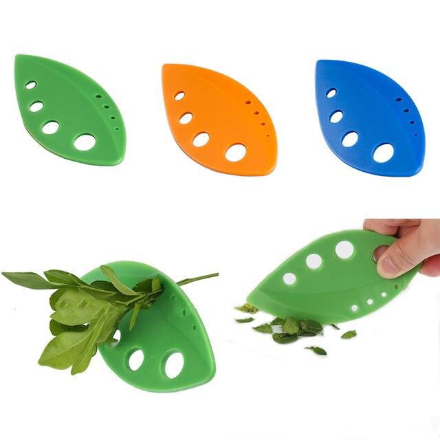 Kitchen Accessories Leaf Herb Stripper Holes Vegetable Leaf Separator Stripping Tool For Chard Collard Greens Kale Herb