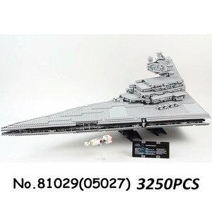 Image 4 - 05027 05132 81098 05028 UCS kuvvet Waken ölüm Imperial Star Destroyer savaşları yapı taşları Millennium gemi Falcon tuğla oyuncak