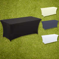 Table Cloth Rectangular Stretch Spandex Table Cover Wedding Hotel home Event Party Decoration HAORUI Accept Custom Logo