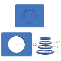 Silicone Rubber silicon plate mate For 3D Sublimation Plates Printing 3D Vacuum Silicone Mold