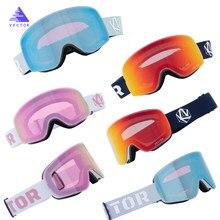 OTG Ski lunettes Snowboard masque pour hommes femmes Ski lunettes cylindrique UV400 neige Protection sur lunettes pour adulte petit visage