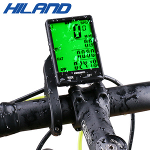 HILAND 2.8'' Large Display Bicycle Wireless Bicycle Computer Bike Touch Screen Speedometer Odometer Bike Rainproof Stopwatch