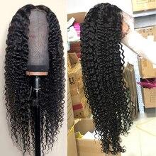 Сапфир бразильские кудрявые вьющиеся Синтетические волосы на кружеве парики из натуральных волос на кружевной предварительно детскими волосами Синтетические волосы на кружеве al парики из натуральных волос для черный Для женщин