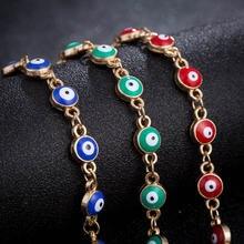 Модные браслеты с бусинами для глаз женщин и девочек регулируемый