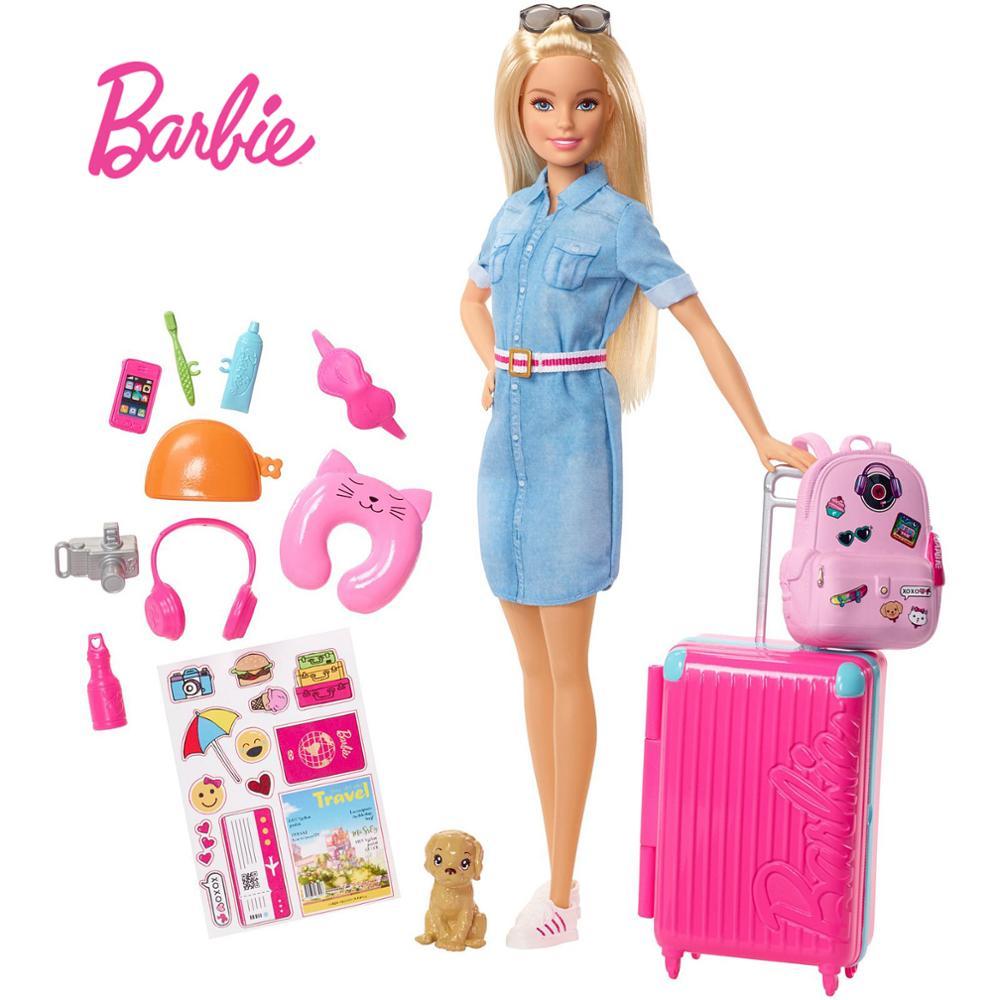 Оригинальная дорожная Кукла Барби с одеждой, аксессуары, игрушки, кукла Барби, игрушки для детей, детские игрушки для девочек, кукла