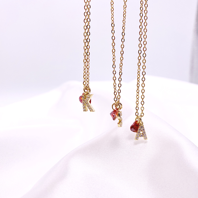 Red  love letters pendant