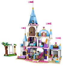 697pcs+ Cinderella Romantic Castle Princess Friend Building Blocks For Girl Sets Toy Compatible With Lepining Friends Bricks new sluban building bricks 815pcs blocks princess cinderella sapphire castle compatible friends education diy kit gift toys girl
