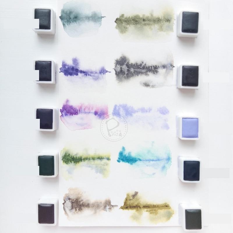 Super Vision Half Pans Solid Watercolor Set Paint Layered Colors Art Professional Gouache Akvarell Koi Acuarelas Tube Aquarelle
