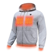 Уличные свитеры PARATAGO с электроподогревом и USB, толстовки, Мужская зимняя теплая одежда с подогревом, Тепловая куртка с зарядкой, спортивная ...