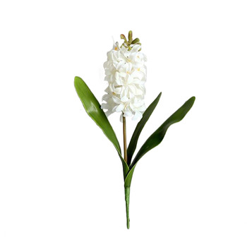 Artificial Hyacinth Plants Hyacinthus Orientalis Simulation Flowers Real Touch Material: PE Romantic And Warm Decorations image