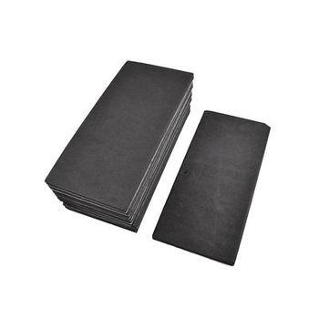 10 Pcs Rectangle Adhesive Foam Replacement Sander Back Pad Mat Black