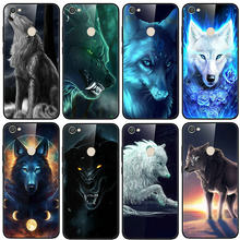 Tempered Glass Phone Cases Cover for Xiaomi Redmi Note 4 4X 5 5A 6 7 7A 8 8A 9 SE Pro Lite Bags Animal Colorful Wolf Cool(China)