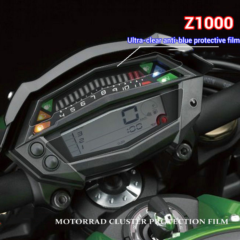 Fit For Kawasaki Z1000 Motorcycle Instrument Protective Film Blue Light Wear-Resistant Anti-Ultraviolet Explosion-Proof Film