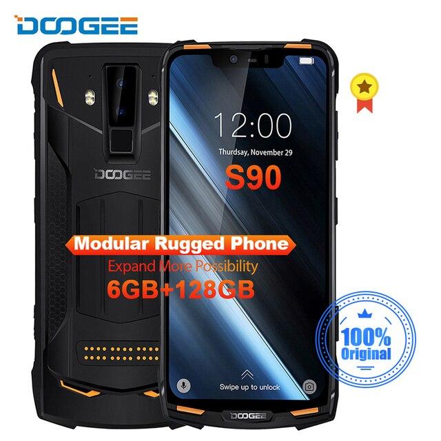 Doogee teléfono inteligente S90, teléfono móvil resistente IP68/IP69K, carga rápida, pantalla 19:9 de 6,18 pulgadas, batería de 5050mAh, Octa Core, 6GB RAM, 128GB rom, Android 8,1, soporta NFC