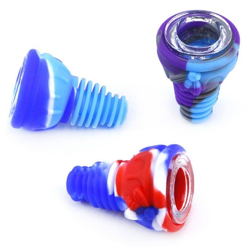1PC hookah tips Silicone Water Pipe Bowl Hookah Bowls Shisha Bowls High Temperature For Smoking Water Bong Smoke Pipe Bowls 3